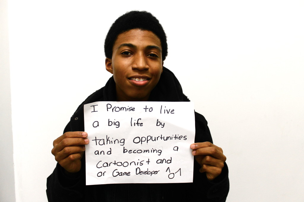 "Michael says ""I pledge to #livemybiglife by""..."
